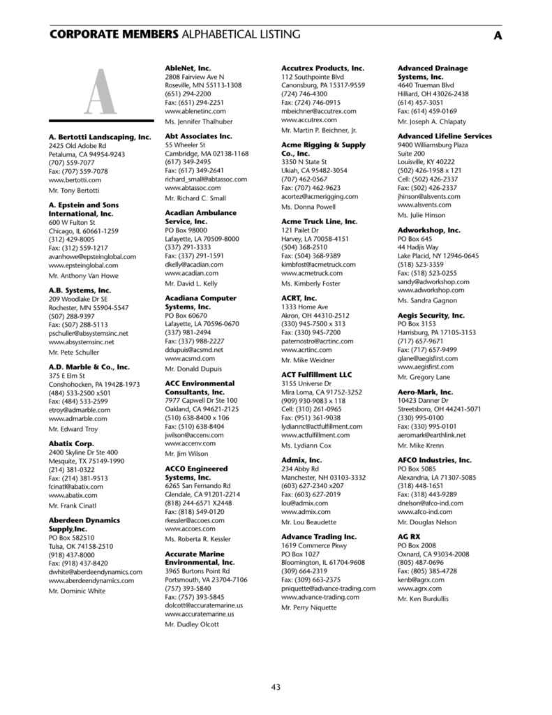 Corporate Members - The ESOP Association