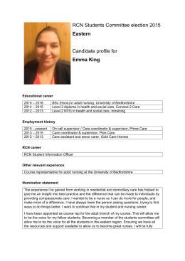 Emma King candidate profile