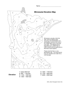 Minnesota Elevation Map