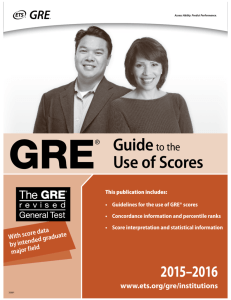 GRE Guide to the Use of Scores 2015-16