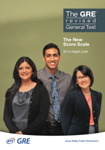 The New Score Scale - The Graduate School