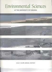 2007-2008 Annual Report - Department of Environmental Sciences