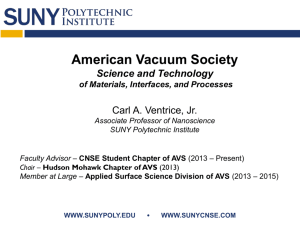 from AVS Student Chapter @ CNSE and - NCCAVS