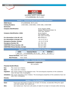 material safety data sheet 9fluorenone, 99+% (gc)