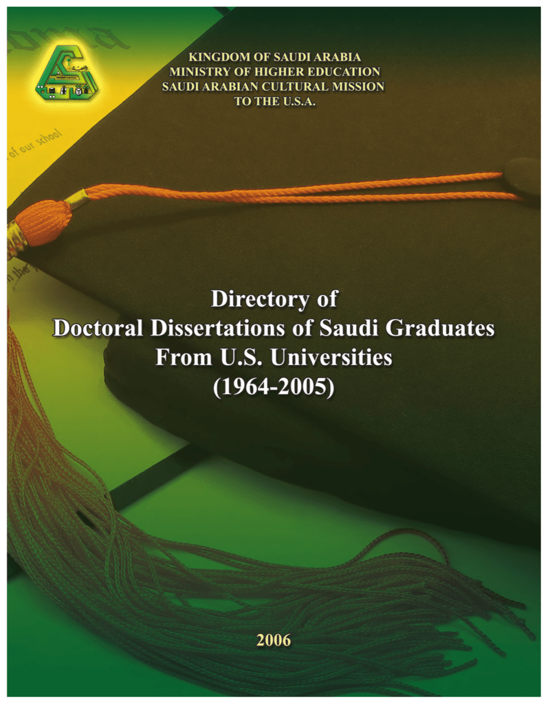 Directory of Doctoral Dissertations…