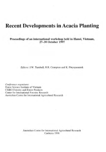 Recent Developments in Acacia Planting