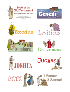 Flash Cards for Teaching Old Testament Books