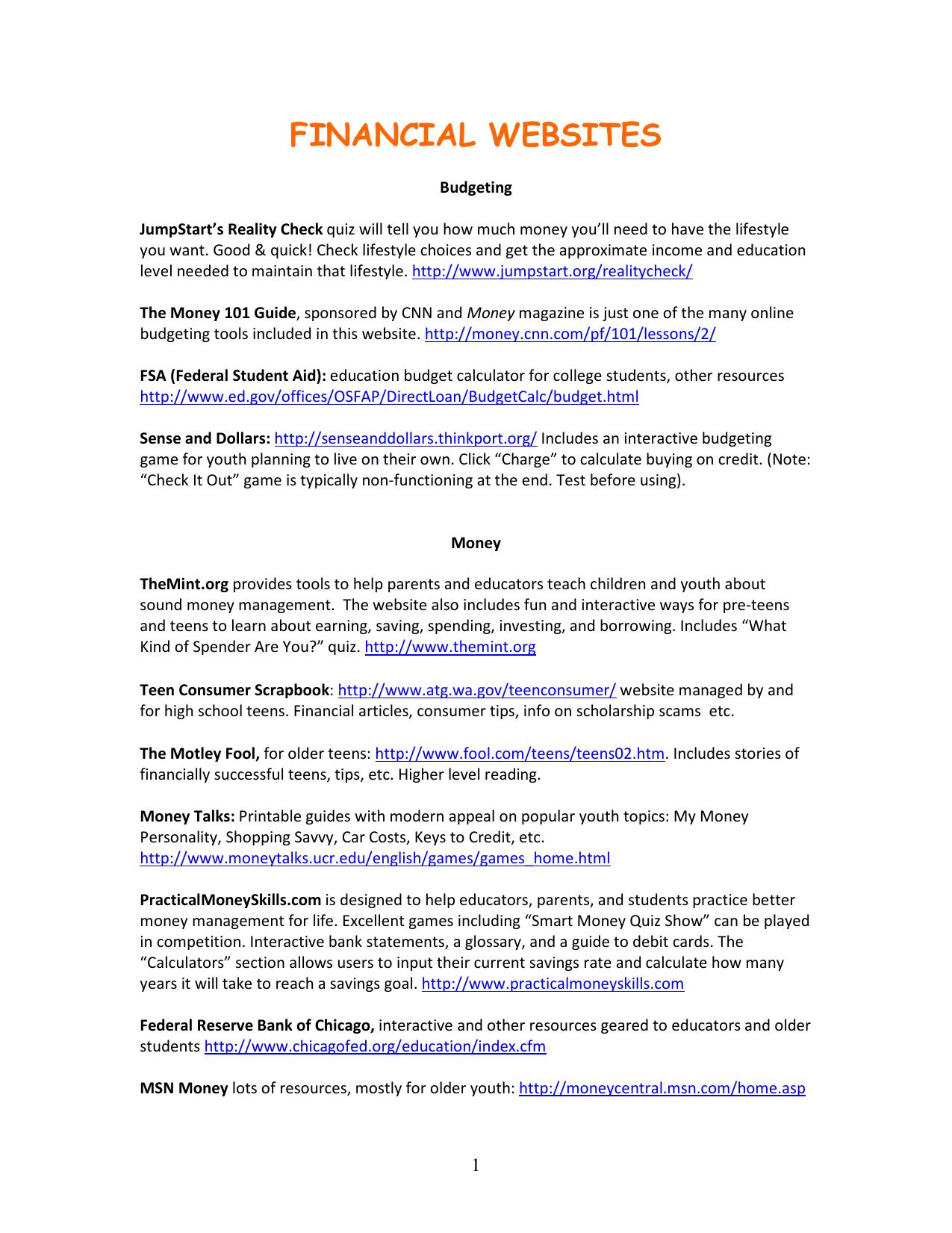 image regarding Money Personality Quiz Printable identified as Fiscal Sites