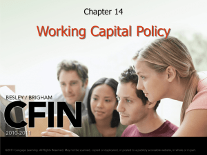 Working Capital Policy - Savannah State University