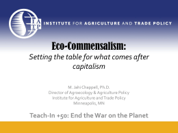 Eco-Commensalism - Institute for Agriculture and Trade Policy