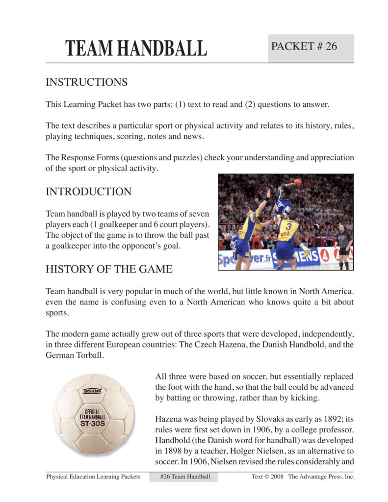 Handball Rules