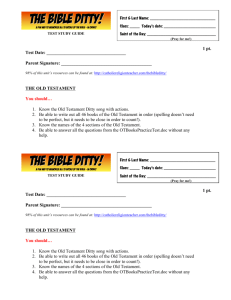 Old Testament Test Study Guide