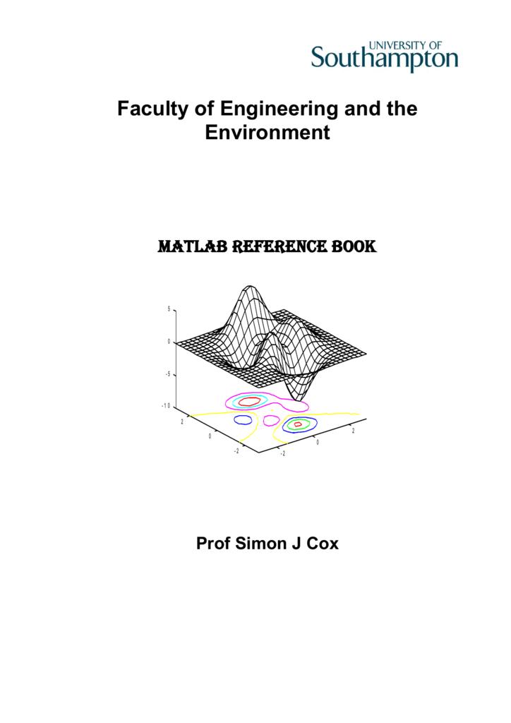 Matlab Handbook - University of Southampton