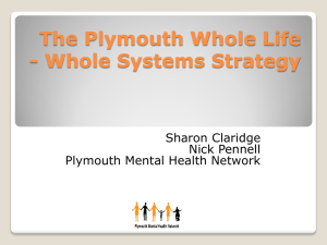 The Plymouth Whole Life - Whole Systems Strategy