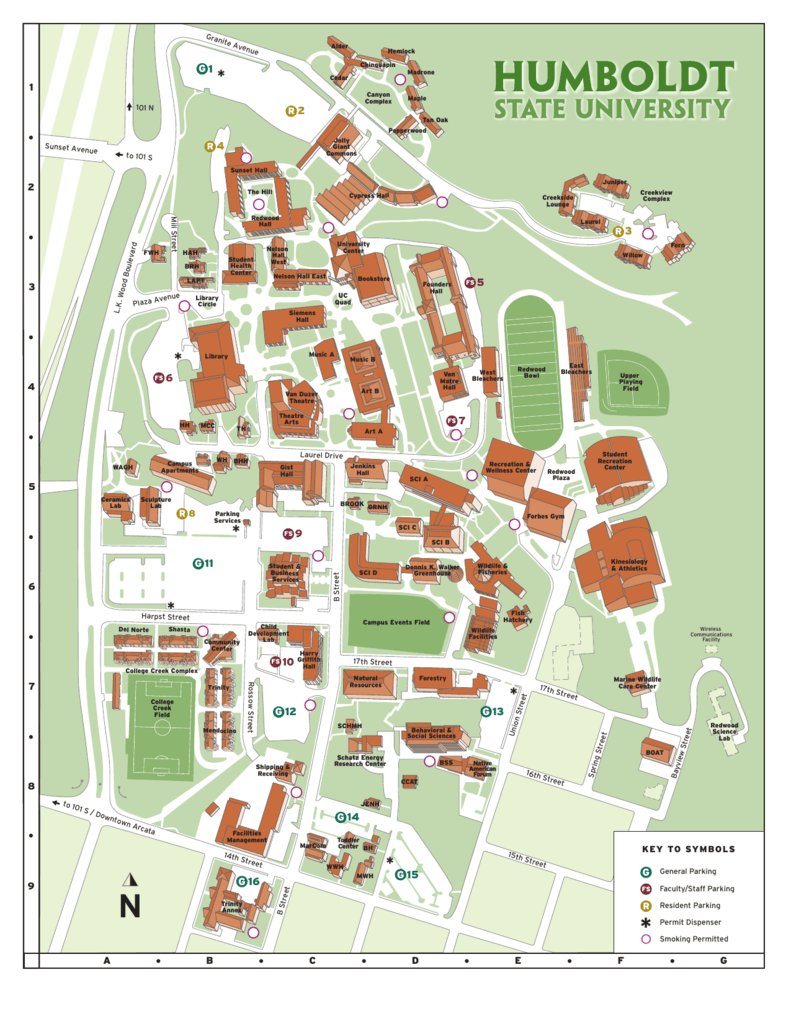 HSU campus map pdf - Humboldt State University