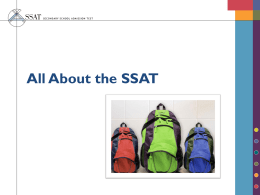 All About the SSAT