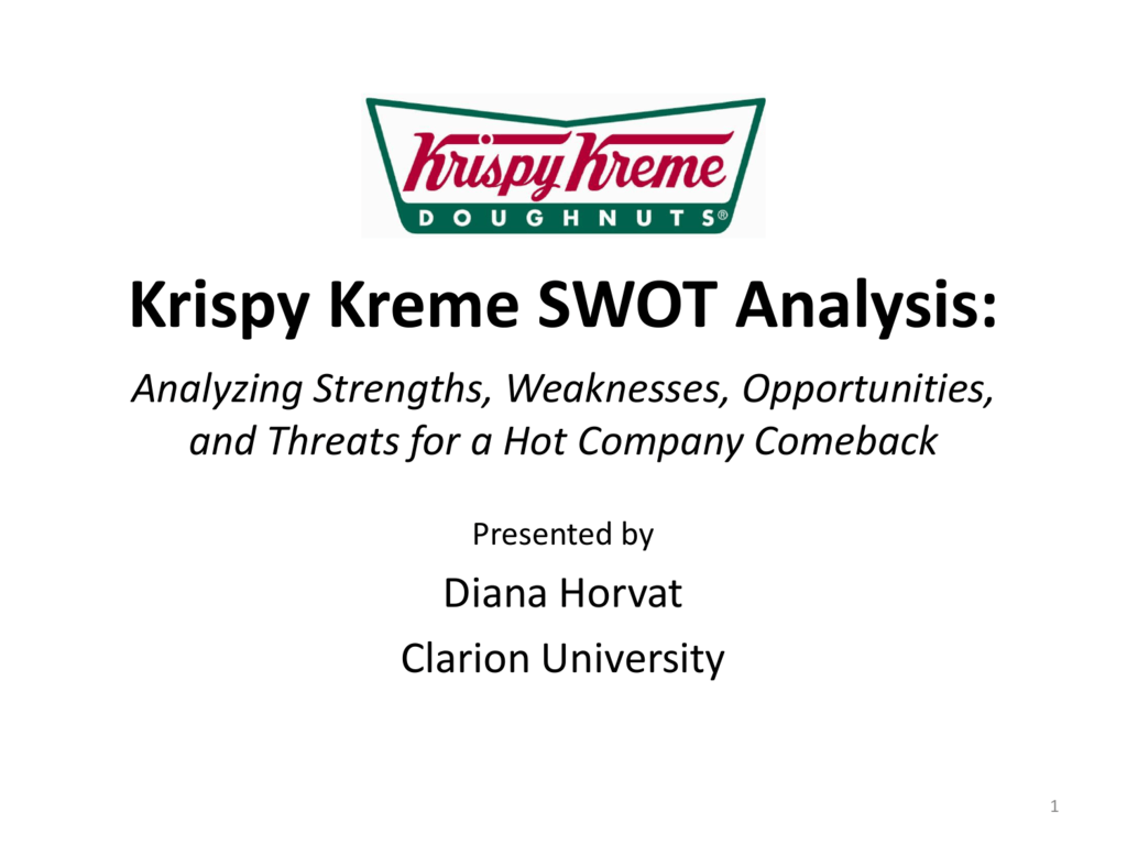 krispy kreme case study swot analysis