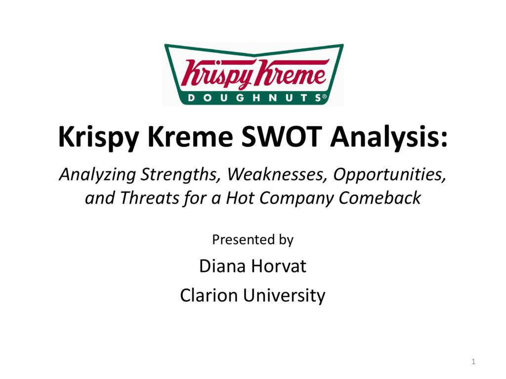 enviromental analysis for krispy kreme