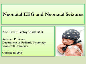 Neonatal EEG - Vanderbilt University Medical Center