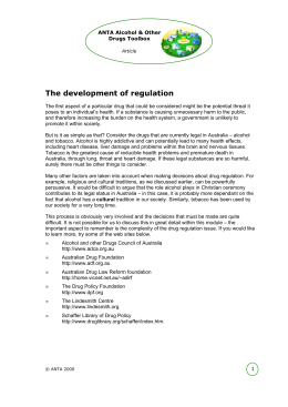 The development of regulation