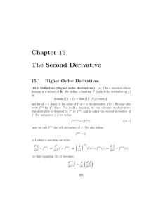 Chapter 15 The Second Derivative