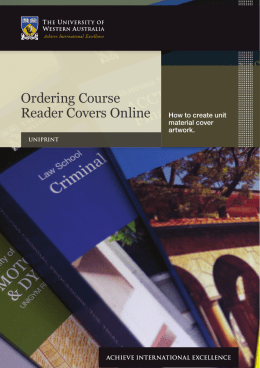 Ordering Course Reader Covers Online - UniPrint