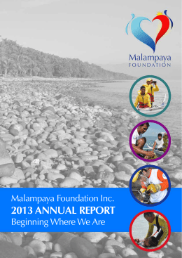 2013 annual report - Malampaya Foundation