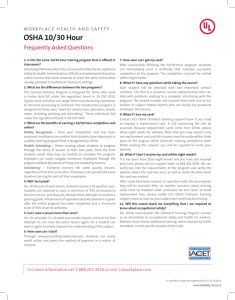 OSHA 10/30 Hour - UL Workplace Health and Safety