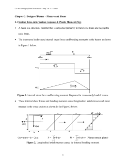 Chapter 2. Design of Beams – Flexure and Shear 2.1 Section force