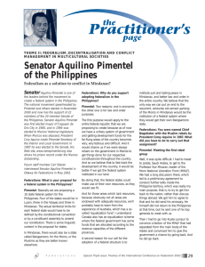 Senator Aquilino Pimentel of the Philippines