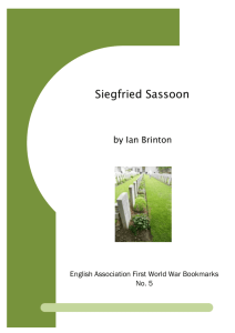 Siegfried Sassoon - University of Leicester