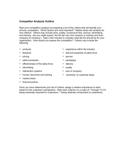 Competitor Analysis Outline (CPSA)