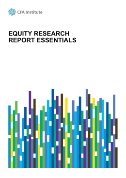 equity research report essentials