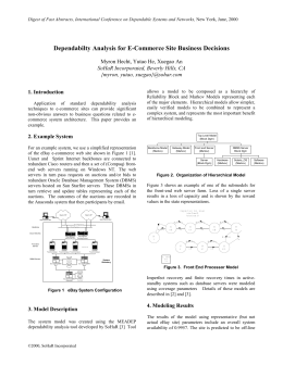 Dependability Analysis for E-Commerce System Business Decisions