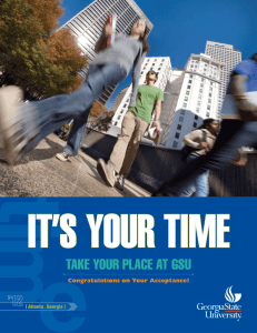 take your place at gsu - Office of Institutional Effectiveness