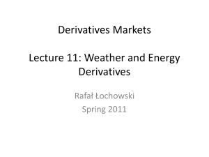 weather and energy derivatives