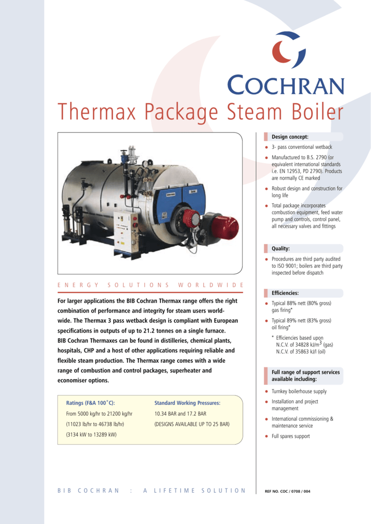 thermax package steam Boiler