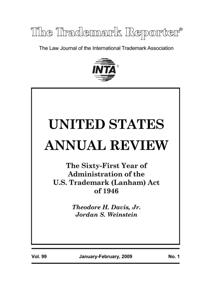 2009 US Annual Review - International Trademark Association