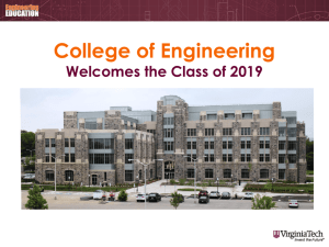 College of Engineering - Department of Engineering Education at