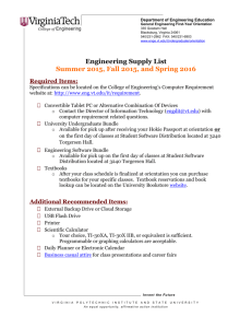 Virginia Tech Letterhead - Department of Engineering Education at