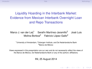 Liquidity Hoarding in the Interbank Market: Evidence from Mexican
