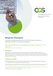 Shoprite Checkers - CQS Technology Holdings