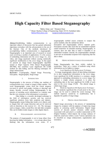 High Capacity Filter Based Steganography