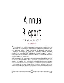 Annual Report 2007 - St.Joseph's College