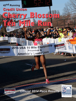 2014 Results Book - Credit Union Cherry Blossom