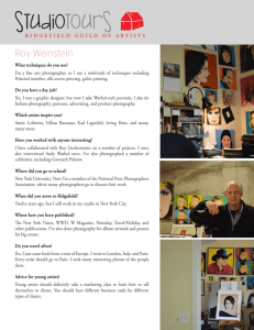 Roy Weinstein Studio Tour - Ridgefield Guild of Artists
