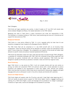 Issue 17 May 2012: THAI Smile
