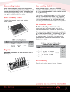 R851B - Electronic Step Control Catalog Pages