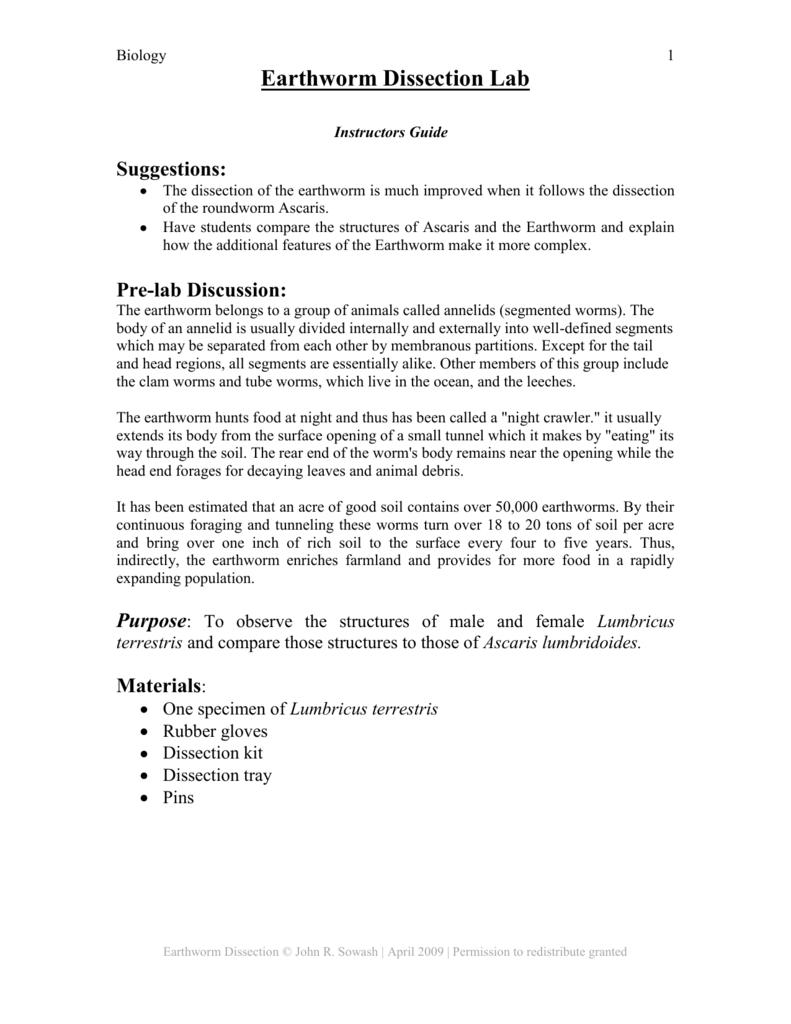 worksheet. Earthworm Dissection Worksheet. Worksheet Fun Worksheet ...