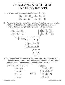 26. solving a system of linear equations